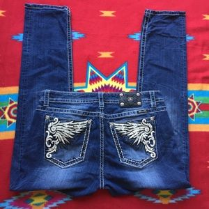 Miss Me Mid Rise Skinny Jeans MP5966S2 Sz 34/31